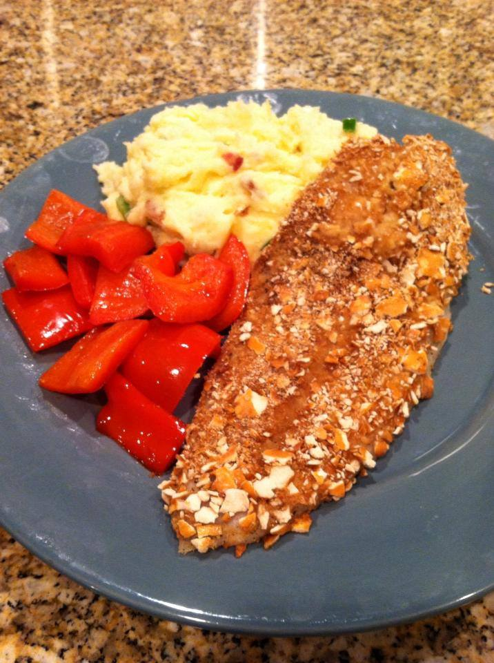 Pretzel crusted Mahi Mahi by Chef Nate