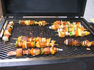 Kabobs on the gril by Chef Nate
